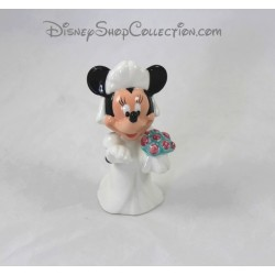 Salt Shaker Minnie DISNEY white wedding dress ceramic 10 cm