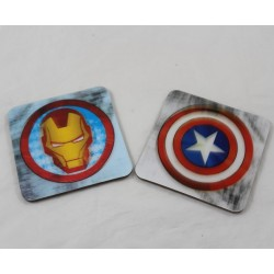 Avengers Marvel Iron Man and Captain America 3D coaster