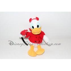 Peluche Donald DISNEYLAND Halloween déguisé en diablotin 25 cm