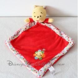 Doudou Winnie l'ourson NICOTOY rouge losange soleil Disney