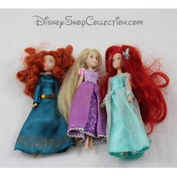 Mini muñecas Rapunzel DISNEYPARKS, rebelde y Ariel Disney 16 cm
