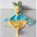 Doudou plat Winnie l'ourson NICOTOY Disney capuche lapin bleu jaune 34 cm