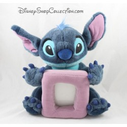 Peluche cadre photo Stitch DISNEY STORE photo bleu mauve 30 cm