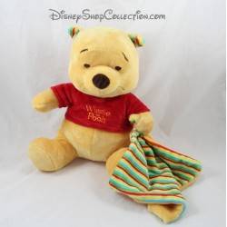 Plush Winnie the Pooh NICOTOY striped cover yellow red blue green