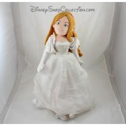 Poupée peluche Princesse Giselle DISNEY STORE robe de mariée 50 cm