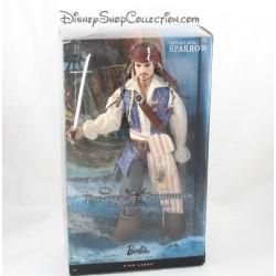 Bambola Barbie Collector capitano Jack Sparrow MATTEL DISNEY pirati dei Caraibi