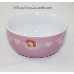 Tazón de fuente de cerámica de blanco como la nieve rosada de la princesa de DISNEY Ariel Cenicienta