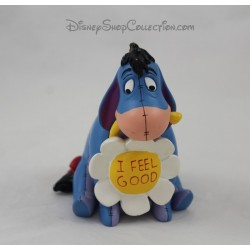 Figurine resin donkey Eeyore DISNEYLAND PARIS marguerite I feel good 10 cm
