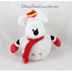 Peluche Mickey DISNEYLAND PARIS bonhomme de neige Noël 20 cm