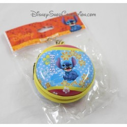 Porte-monnaie rond Stitch DISNEY Lilo & Stitch en fer boite 8 cm