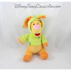 Peluche Tigrou NICOTOY déguisé en lapin vert Disney 20 cm