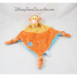 Tigger DISNEY flower BABY blanket Blue Diamond orange yellow