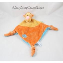 Flor de DISNEY Tigger naranja de diamante azul de manta bebé amarillo