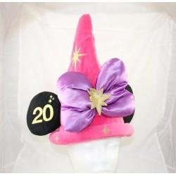 Chapeau Minnie DISNEYLAND PARIS 20ème anniversaire étoiles rose mauve