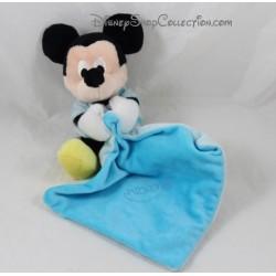Doudou mouchoir Mickey DISNEY NICOTOY bleu Simba Toys lune étoile