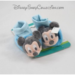 Mickey DISNEY BABY blue 3-6 months Baby Slippers