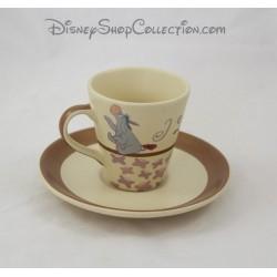 Tasse à café Bourriquet DISNEY STORE avec soucoupe I Love Hugs céramique