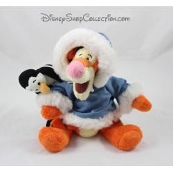 Peluche Tigrou DISNEY STORE manteau bleu pingouin 24 cm