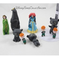 Lot de figurine Rebelle DISNEY Merida Reine Elinor et 3 frères ours