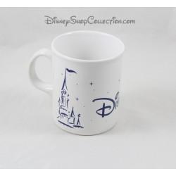 Mug château DISNEYLAND PARIS blanc bleu étoiles 10 cm