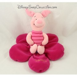 Peluche cochon Porcinet DISNEY NICOTOY rose fleur Je t'aime 18 cm