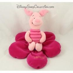 Plush pig piglet DISNEY NICOTOY Flower Pink I love you 18 cm