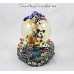 Snowglobe musical Mickey et ses amis DISNEY bulle de savon vintage boule à neige