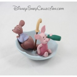 Figurine Porcinet et Petit Gourou DISNEY Together is our favorite way to be Pooh & friends porcelaine 10 cm