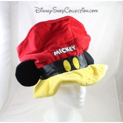 Chapeau Mickey DISNEYLAND PARIS rouge jaune noir adulte Disney 28 cm