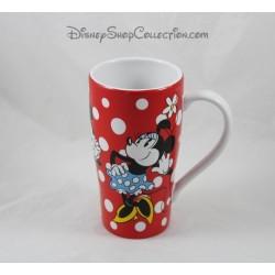 Mug haut Minnie DISNEY STORE rouge pois blanc Minnie vintage
