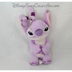 Porte clés peluche Angel DISNEY Lilo et Stitch rose mauve Disney 15 cm
