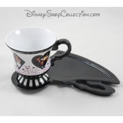 Tasse und Untertasse DISNEY PARKS Alice im Wunderland weiß 9 cm schwarz