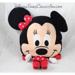 Sac à dos peluche NICOTOY Disney Minnie robe rouge à pois 44 cm