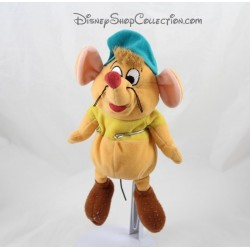 Peluche ratón Gus Gus DISNEY Cenicienta marrón verde 23 cm