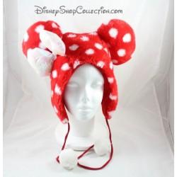 Bonnet Minnie DISNEYLAND PARIS cache oreilles rouge blanc