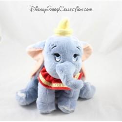Peluche éléphant Dumbo DISNEY NICOTOY bleu col rouge 26 cm
