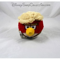 Peluche boule oiseau Angry Birds Star Wars Luke Skywalker rouge 12 cm
