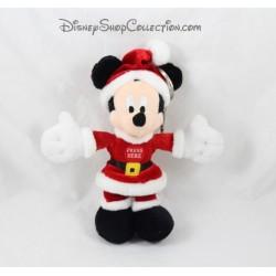 Porte clés peluche Mickey DISNEYLAND PARIS Père Noël musical 17 cm