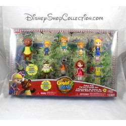 Set of 9 figurines DISNEY Junior Gold buckle and little bear Goldie & Bear fairytale friends of the forest