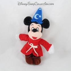 Porte clés peluche Mickey DISNEYLAND WALT DISNEY WORLD magicien Fantasia chapeau 19 cm