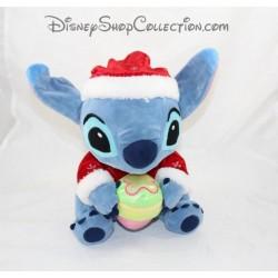 Peluche Stitch DISNEYLAND PARIS Père Noël cupcake Disney 30 cm