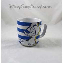 Cup mug Donald DISNEY STORE blue white ceramic 10 cm