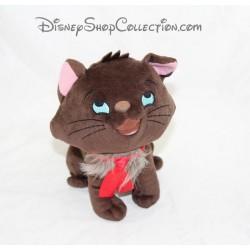 Peluche gato Berlioz DISNEYLAND París Brown nodo Aristogatos Disney 21 cm rojo