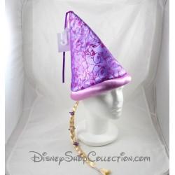 Chapeau Raiponce DISNEYLAND PARIS violet chevelure blonde fleurs Disney 30 cm
