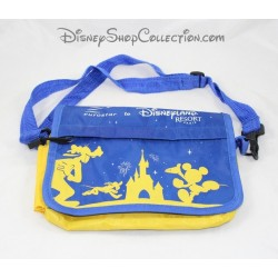 Saddlebag slung vintage EUROSTAR TO DISNEYLAND RESORT PARIS blue yellow gold silhouettes 20 cm