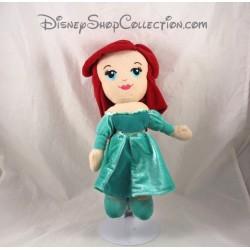 Poupée peluche Ariel DISNEY NICOTOY La petite sirène robe verte 30 cm