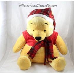 Grande peluche Winnie l'ourson DISNEY NICOTOY Noël écharpe bonnet 40 cm