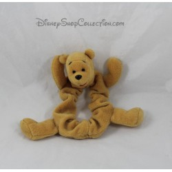 Chouchou Winnie l'ourson DISNEYLAND PARIS élastique cheveux velours orange