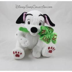 Peluche chien Lucky DISNEYLAND PARIS Les 101 Dalmatiens Disney tréfle 20 cm