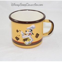 Enamelled mug goofy DISNEYLAND PARIS Brown Cook orange